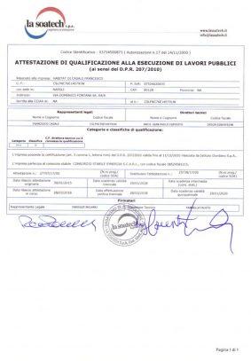 Certificato SOA